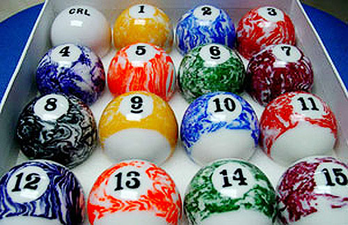 Marbled Pool Balls