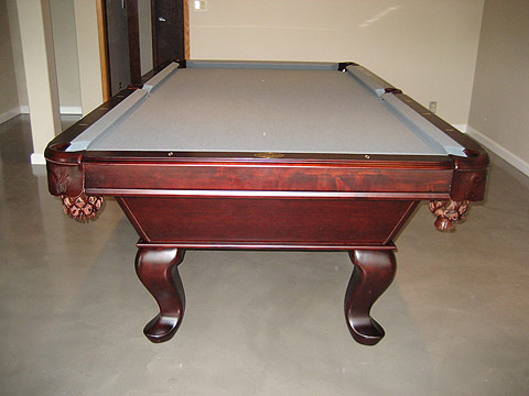 cherry red table tiburon cherry pool table so cal pool tables