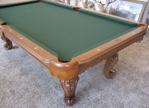 Victorian pool table so cal pool tables - Pool table green felt ...